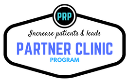 Our PRP Partner Clinic program is included for FREE when you become a platform member. We help you get setup and then help you get leads and with marketing.